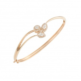 Rose Gold Diamond Bangle 2.07ct G-H/VS-VVS